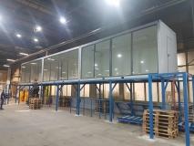 Biuro trzy moduły - Witryna szklana