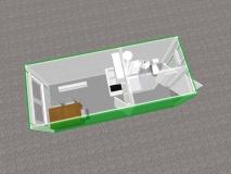 Kontener socjalno-sanitarny z klimatyzacją i wyposażeniem